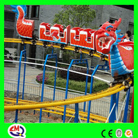 China hot sale thrilling electric kiddie rides east dragon with hanging track