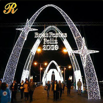motif christmas light led lights arch lights holiday street decoration
