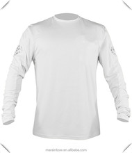 Mens Long Sleeve Fishing Shirt UPF50+ Outdoor Performance T Shirt 100% Polyester Dri-Fit Fishing Shirt Moisture wicking Cool Tee