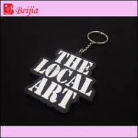 Manufacturer China custom your own logo soft pvc silicone keychain rubber keyring for advertising
