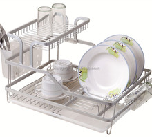 two tier kitchen aluminum dish rack XY-A1405