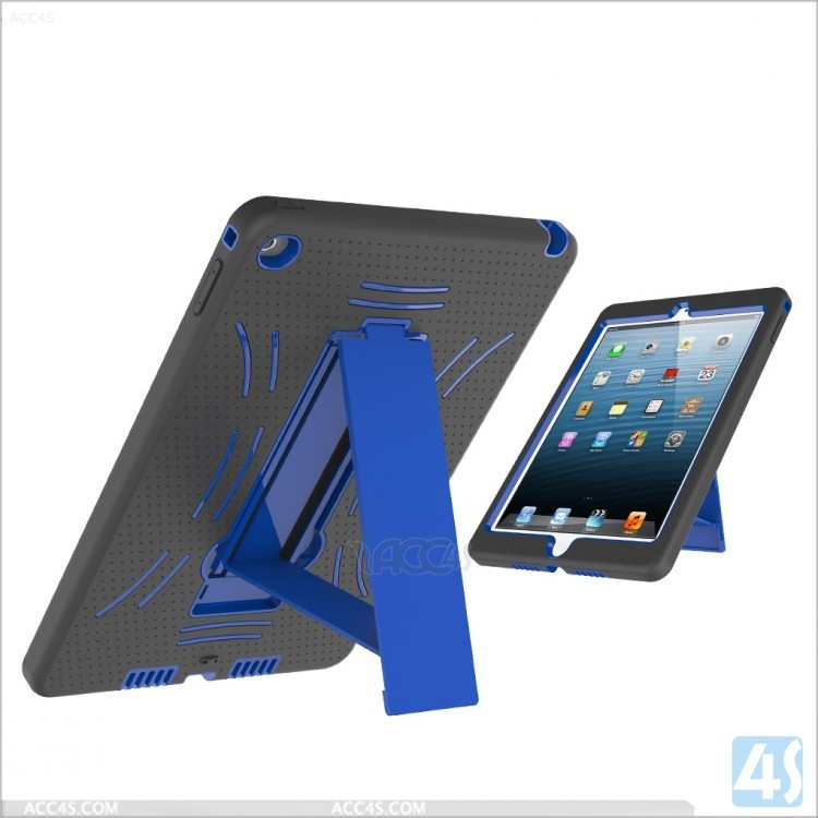 2014 PC + Silicone Combo Case for iPad Air 2 with Kickstand