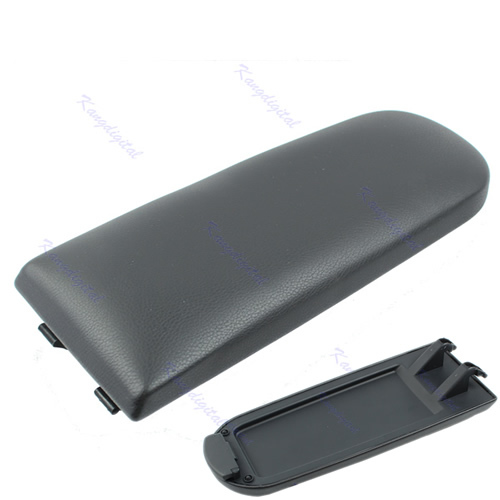 "M112""Arm Rest Armrest Center Console Cover Lid For 99-04 VW Golf Jetta BORA MK4 Black"