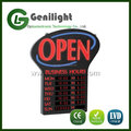 Power Supply Programmable LED Sign With Hours