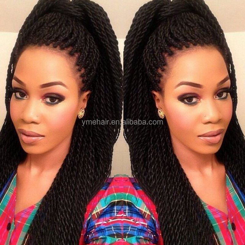 Wholesale braid hair Lace Front synthetic hair wigs for black women