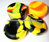 Customize FDA approved food grade wax oil bho container 7ml small round non-stick dab box