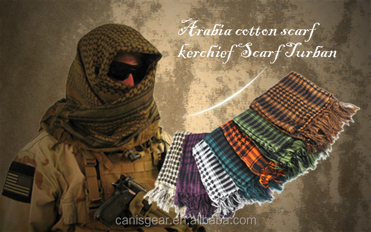 CL29-0031 Military Tactical Desert Scarf Keffiyeh Cotton Shemagh Scarf