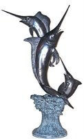 Bronze 3 Sword Fish Statues
