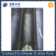Professional factory stock dark blue cotton super stretch denim fabric
