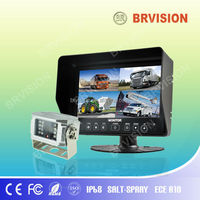 "7""split backup rearview quad monitor with sliding just as the ipad"