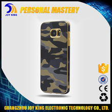 Wholesale OEM Genuine Flip leather case camouflage pattern cover soft TPU for samsung galaxy S7 S7 edge