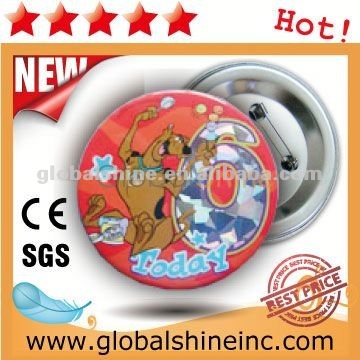 75mm rosette button badge material componets