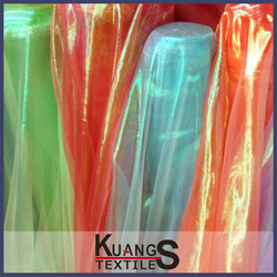 New Style colourful Organza Fabric/rainbow organza fabric
