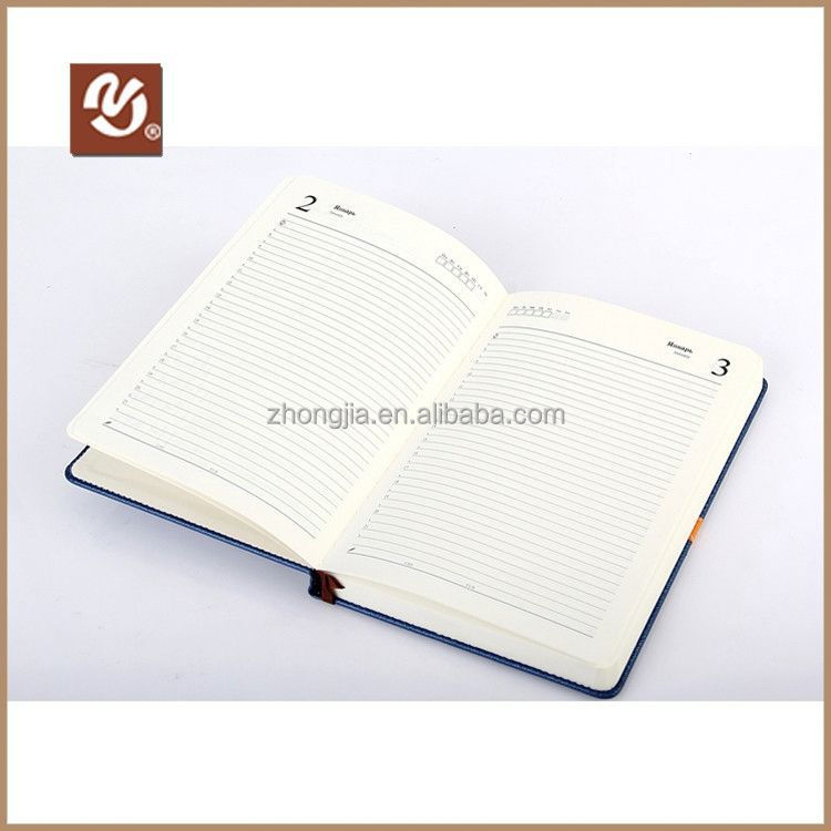 Eco-Friendly 2014 Pu Leather Bound Diary