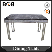 china modern 4 person x shape marble top wooded dining table