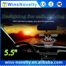 "Latest 5.5"" Screen E300 Head Up Display Plug And Play OBD II HUD Speed Alarm Warning System Work On All Cars"