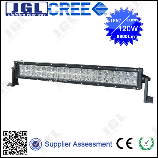 JGL 4x4 off road superbright led light bar 120w 12v cree car accesseries light bar for truck