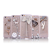 for iphone 7 bling glitter liquid clear floating quicksand mobile phone case