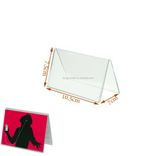 Custom New Acrylic Menu Show Card Name Place Table Setting Display Tent Stand Holder with double side