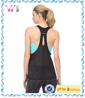 Womens Fashionable Plain Cotton Wrestling Polyester Gym singlet Girls Running/Gym/Yoga Singlet