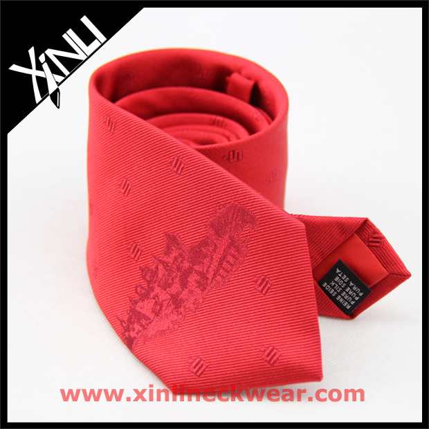 Mens Wholesale Chinese 100% Silk Jacquard Woven Custom Logo Neckties