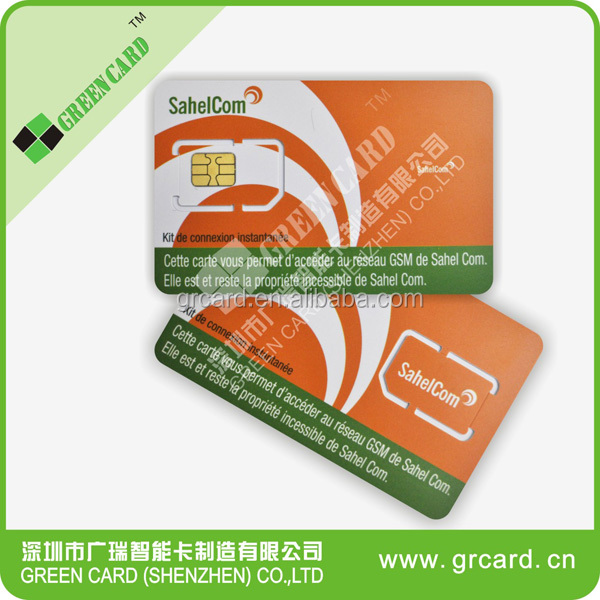 CDMA GSM USIM SIM Card Triple Size 2FF/3FF/4FF SIM Card for Mobile Phone Custom Plastic Cards No Minimum