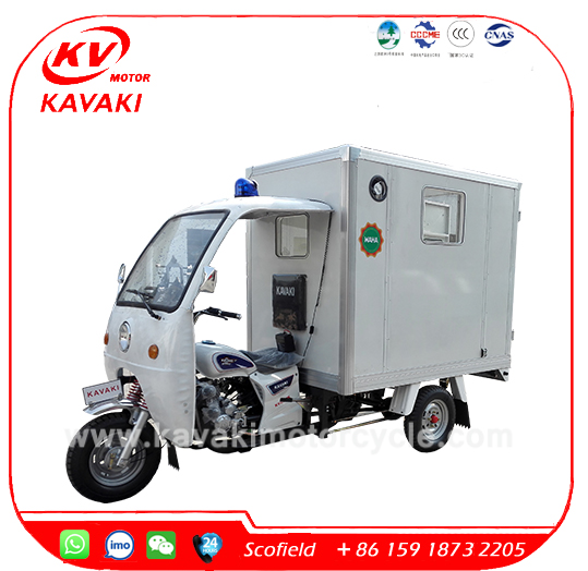 Professional KAVAKI ICU Emergency Ambulance tricycle for sale