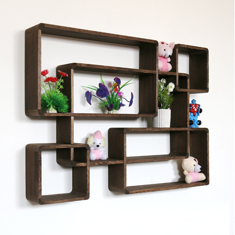 Pan wall cabinets living room wall hanging wood shelves for decorative wooden storage shelves