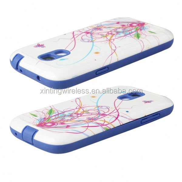 2014 New Arrival Fashion tpu pc case for samsung s4 mini sublimation phone case for s4 mini