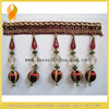 Wholeasle Red Decorative Ball Fringe For Curtain, Furniture