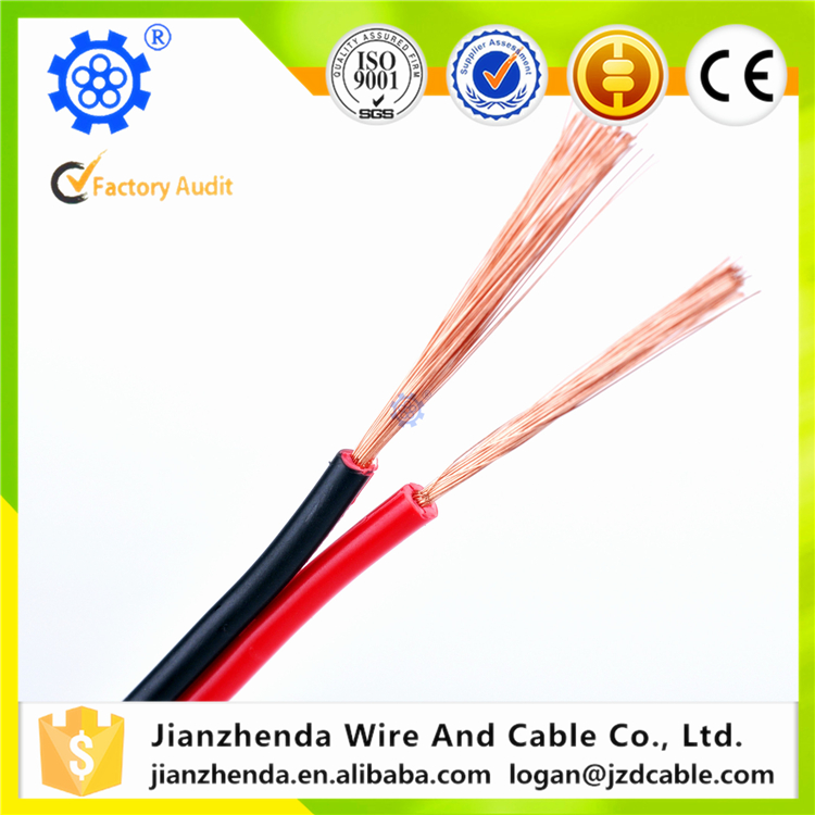 China Made best selling high end pvc insulated clear speaker cable