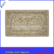 Yellow Marble Wall Relief Last Supper Religous Statue Sculpture