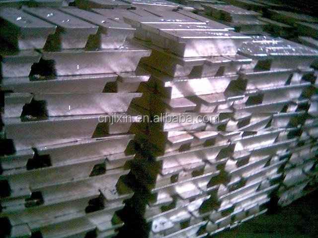 white metal Sb antimony ingot 99.85%