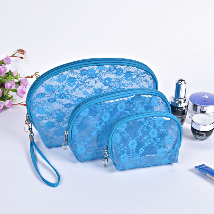 2016 New fashion Lace Leopard print Waterproof Women Travel small Cosmetic bag Storage Makeup Bags