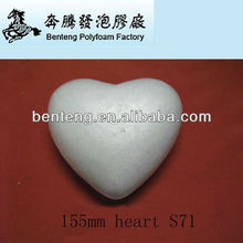 2013 hot-selling decorative glitter Christmas foam heart