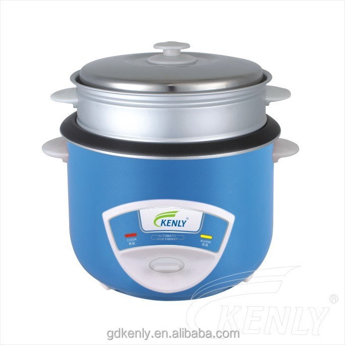 Sky Blue Cylindrical Rice Cooker