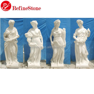 Natural Marble Garden Life Size Human Statues