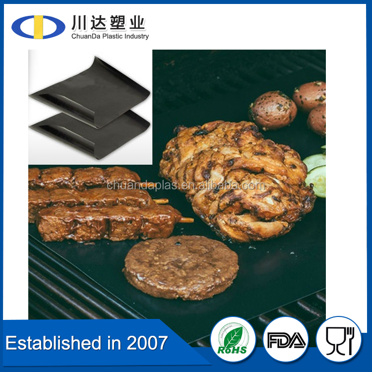 high temperature non-stick BBQ GRILL MAT / fireproof charcoal bbq grill mats