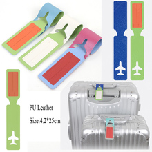 Hot Selling Wholesale PU Leather baggage Holder Luggage Tag