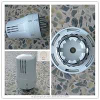 White color thermostat head for radiator valve , thermostatic head with PC material