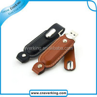 2014 New arrival 32GB leather case usb flash drive for usb 2.0