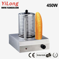 Hot dog heater with 2 bun toasting spikes HD-103