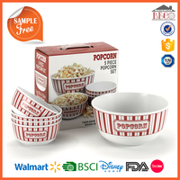 China supplier Plastic lids Melamine Popcorn Bucket with lids
