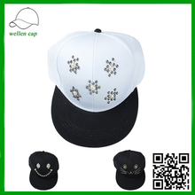 best quality jewelry stuck face twill handmade snapback cap for wholesale
