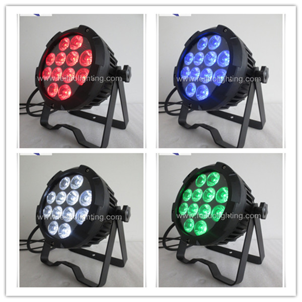12pcs x10w 4in1 rgbw outdoor slim par 64 led flat par lights