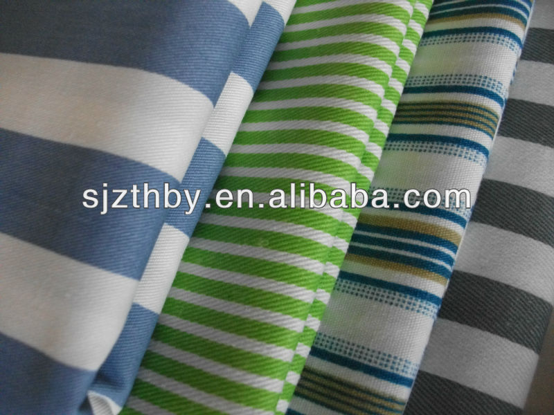2017 hot sale poly/cotton printed fabric with stripes made in China