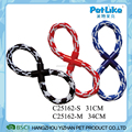 Strenght 8 Shape Colorful Rope Dog Toy Durable Indoor Dog Play Toy