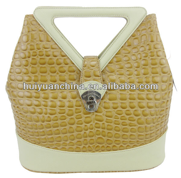 cute handle stone garin pu handbag