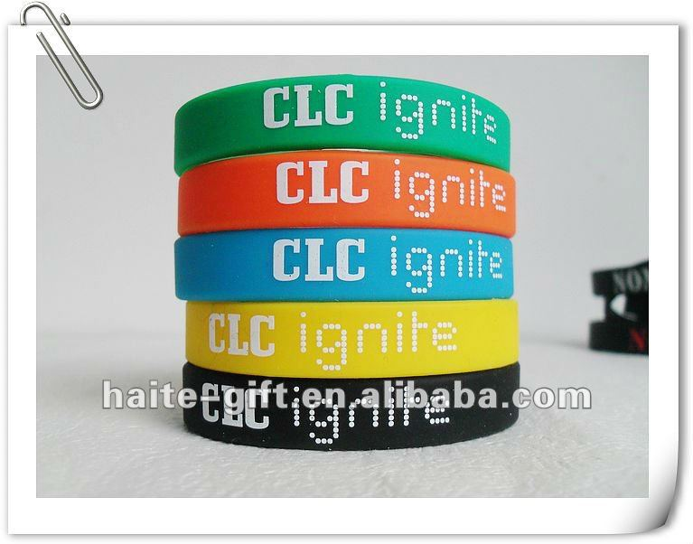 Promotion silicone rubber wristbands