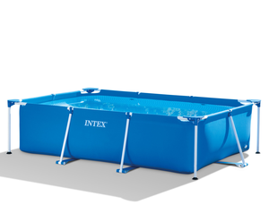 Intex 28272 Metal Frame Small Family Rectangular Swimming Pool